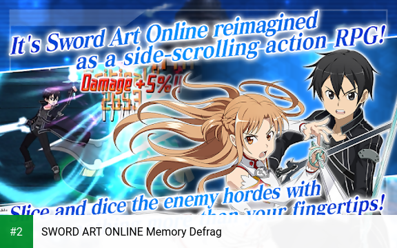 SWORD ART ONLINE Memory Defrag apk screenshot 2