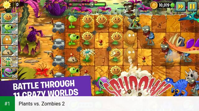 Plants vs. Zombies 2 app screenshot 1