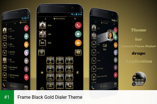 Frame Black Gold Dialer Theme app screenshot 1