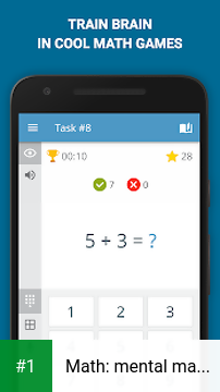 Math: mental math games, multiplication table app screenshot 1