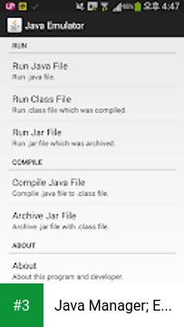 Java Manager; Emulate Java app screenshot 3