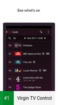 Virgin TV Control app screenshot 1