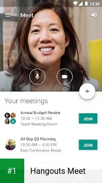 Hangouts Meet app screenshot 1