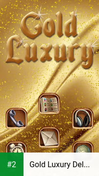 Gold Luxury Deluxe Theme apk screenshot 2
