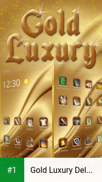 Gold Luxury Deluxe Theme app screenshot 1