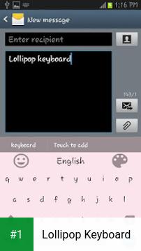 Lollipop Keyboard app screenshot 1