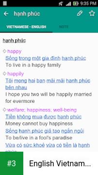 English Vietnamese Dictionary TFlat app screenshot 3