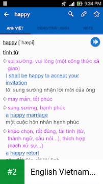 English Vietnamese Dictionary TFlat apk screenshot 2