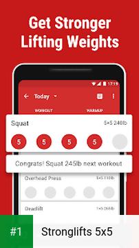 Stronglifts 5x5 app screenshot 1