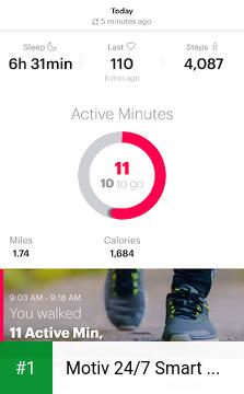 Motiv 24/7 Smart Ring app screenshot 1