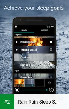 Rain Rain Sleep Sounds apk screenshot 2