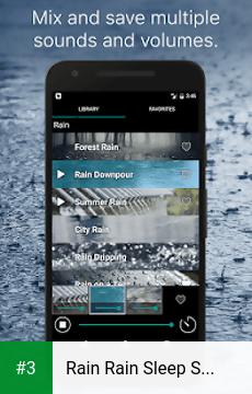 Rain Rain Sleep Sounds app screenshot 3