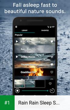 Rain Rain Sleep Sounds app screenshot 1