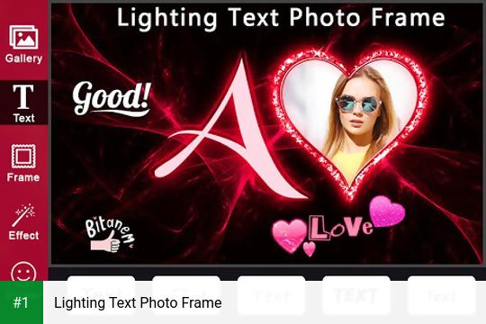 Lighting Text Photo Frame app screenshot 1
