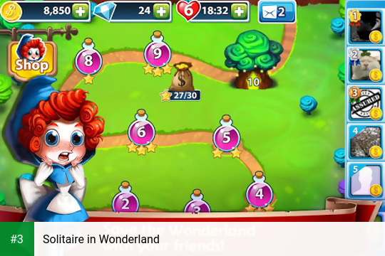 Solitaire in Wonderland app screenshot 3