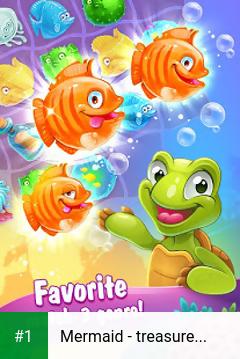 Mermaid - treasure match-3 app screenshot 1