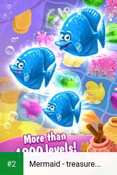 Mermaid - treasure match-3 apk screenshot 2