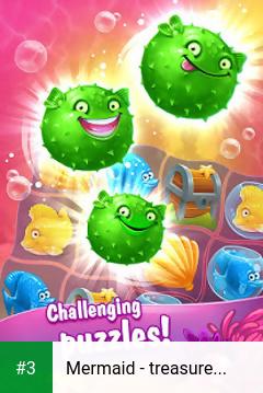 Mermaid - treasure match-3 app screenshot 3