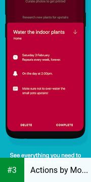 Actions by Moleskine app screenshot 3