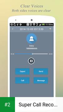 Super Call Recorder apk screenshot 2