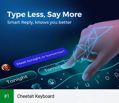 Cheetah Keyboard app screenshot 1