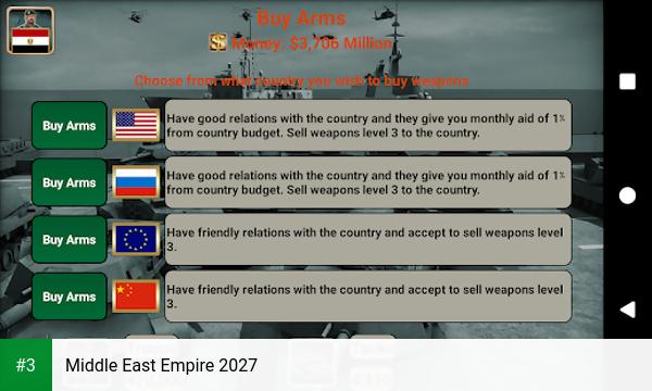 Middle East Empire 2027 app screenshot 3