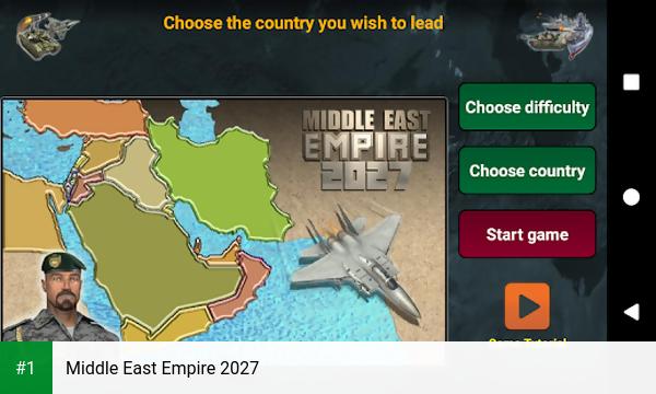 Middle East Empire 2027 app screenshot 1