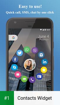 Contacts Widget app screenshot 1