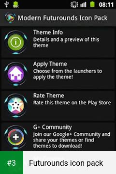 Futurounds icon pack app screenshot 3