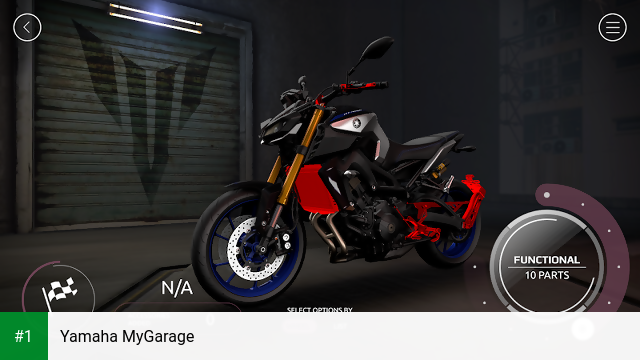 Yamaha MyGarage app screenshot 1