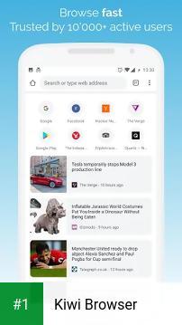 Kiwi Browser app screenshot 1