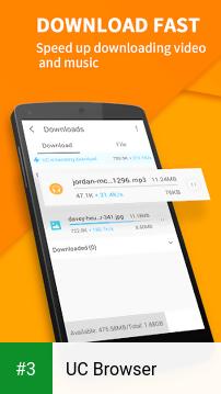 UC Browser app screenshot 3