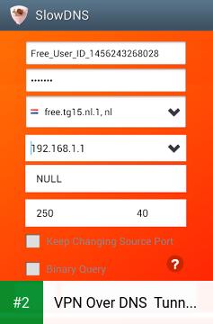 VPN Over DNS  Tunnel : SlowDNS apk screenshot 2