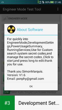 Development Settings app screenshot 3