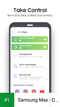 Samsung Max - Data Savings & Privacy Protection app screenshot 1