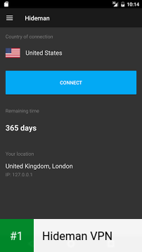 Hideman VPN app screenshot 1