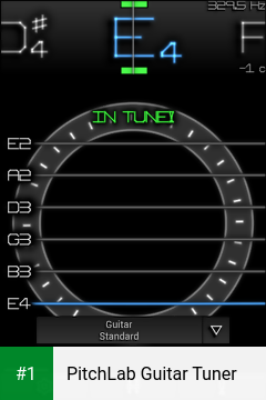 PitchLab Guitar Tuner app screenshot 1