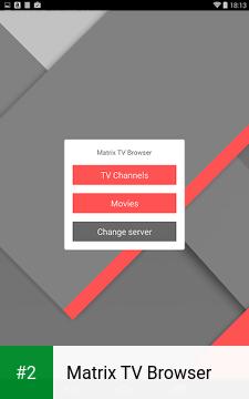 Matrix TV Browser apk screenshot 2