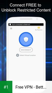 Free VPN - Betternet VPN Proxy & Wi-Fi Security app screenshot 1