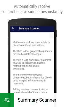Summary Scanner apk screenshot 2