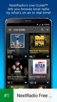 NextRadio Free Live FM Radio app screenshot 1