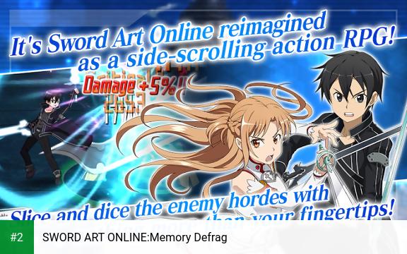 SWORD ART ONLINE:Memory Defrag apk screenshot 2