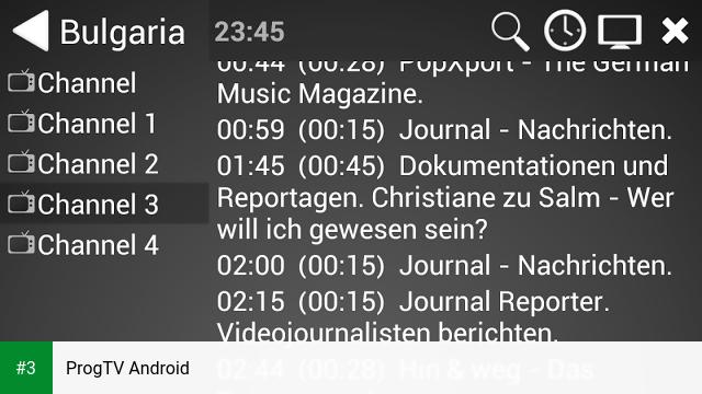 ProgTV Android app screenshot 3