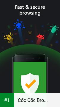 Cốc Cốc Browser app screenshot 1