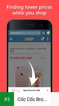 Cốc Cốc Browser app screenshot 3