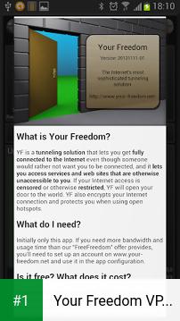 Your Freedom VPN Client app screenshot 1
