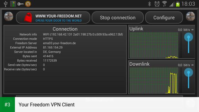 Your Freedom VPN Client app screenshot 3