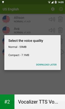 Vocalizer TTS Voice (English) apk screenshot 2