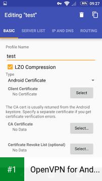 OpenVPN for Android app screenshot 1