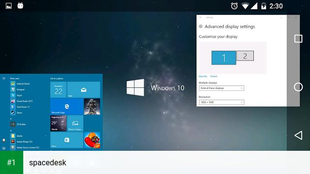 spacedesk app screenshot 1